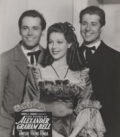 Henry Fonda, Don Ameche, and Loretta Young in The Story of Alexander Graham Bell (1939)