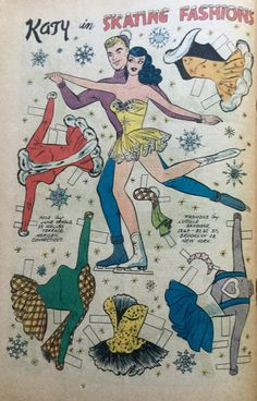 From Kay Keene January 1961 Comic Book Paper, Millie The Model, Cartoon Paper, Newspaper Paper, Paper Art, Paper Crafts, Mini Craft, Fancy Costumes, Vintage Paper Dolls