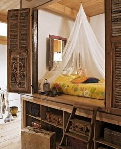 Old West Cabin Bedroom