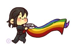 This is adorable. The winter soldier with a Rainbow Flag. Marvel Memes, Marvel Dc, Baby Marvel, Black Widow Movie, Superhero Memes, Cute Chibi, Stucky, Bucky Barnes, Winter Soldier