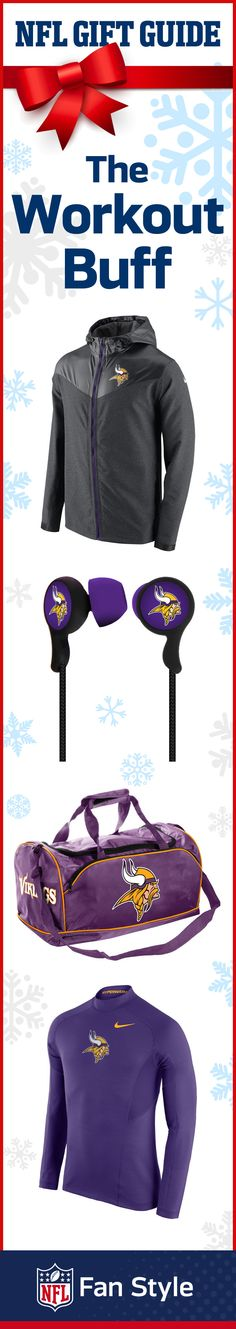 Do you have someone on your list who loves to break a sweat? Maybe a record-breaker who never leaves home without their sports bag? For the workout buff, gift something they can use all year long, like Minnesota Vikings ear buds, performance gear, or a gym bag they can take anywhere!