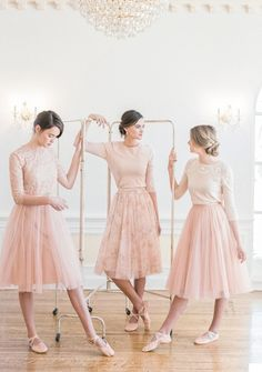 Jenny Yoo 2016 Mismatched Short Blush Bridesmaid Dresses / http://www.deerpearlflowers.com/jenny-yoo-2016-bridesmaid-dresses/