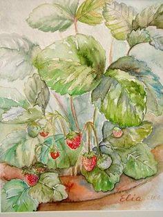 Aquarell Erdbeeren.jpg 318×424 Pixel