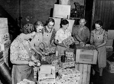 World War II Packages from Home During Christmas  The Red Cross Preparing Packages to Send to Troops in 1942