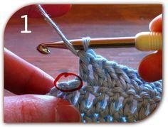 how to crochet the last stitches so you get a straight edge (no increase - no decrease - no triangles!)