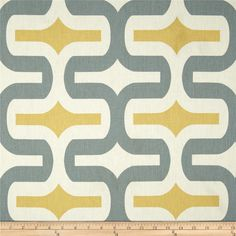 Premier Prints Embrace Macon Saffron Yellow from @fabricdotcom  Screen printed on cotton duck; this versatile medium weight fabric is perfect for window accents (draperies, valances, curtains and swags), accent pillows, duvet covers and upholstery. Create handbags, tote bags, aprons and more. *Use cold water and mild detergent (Woolite). Drying is NOT recommended - Air Dry Only - Do not Dry Clean. Colors include grey, yellow and white.