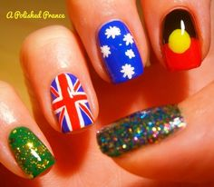 Survival Day | 27 Awesome Nail Art Designs For Australia Day