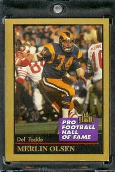 1991 ENOR Merlin Olsen Football Hall of Fame Card #110 - Mint Condition - Shipped in Protectivee Acrylic Display Case !! by ENOR. $2.95