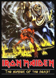 """Display Stand-up de Iron Maiden """"Número de la bestia"""""""