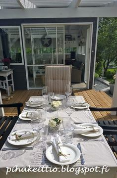 Juhannuskattaus Landscaping, Table Settings, Garden, Flowers, Garten, Florals, Place Settings, Gardens, Landscape Architecture