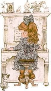 Cosy Home: Holly hobbie and Sarah kay Sarah Key, Holly Hobbie, Cute Images, Cute Pictures, Papier Kind, Cute Illustration, Garden Illustration, Vintage Pictures, Illustrations