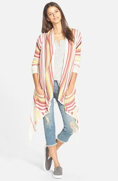 Billabong+'Loosen+Up'+Open+Cardigan+available+at+#Nordstrom