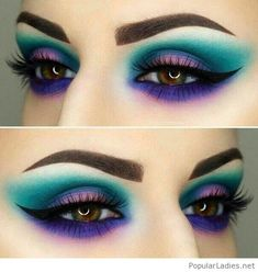 Colorful makeup for eyes