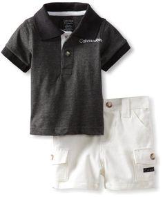 Amazon.com: Calvin Klein Baby-Boys Newborn Polo With Cargo Short: Clothing