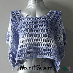 Simple Summer Poncho - CrochetN'Crafts