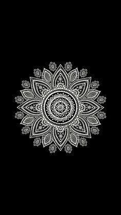Black and White Mandala Wallpaper Iphone Wallpaper Mandala, Hippie Wallpaper, Mandala Wallpapers, Black And White Wallpaper Phone, Black Background Wallpaper, Mandala Artwork, Mandala Drawing, Black Aesthetic Wallpaper, Pattern Wallpaper
