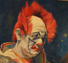 Clown Oil Paintings | Emil Kosa Jr clown oil painting on canvas. image 5