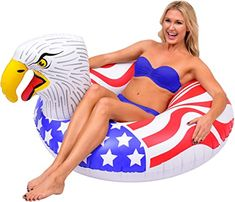Amazon.com: GoFloats American Screaming Eagle Pool Float Party Tube | The Most Patriotic Float Ever (for Adults and Kids): Sports & Outdoors Sport Pool, Screaming Eagle, Pool Rafts, Sports Toys, Kids Sports, Pool Floats, Water Toys, Outdoor Toys, Oriental Trading