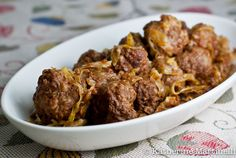 The ultimate comfort food - my mother-in-law's sweet and sour meatballs for #worldonaplate