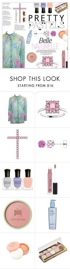 """""""Belle Naturelle"""" by applesofgoldjewelry ❤ liked on Polyvore featuring Averardo Bessi, Deborah Lippmann, Anastasia Beverly Hills, Pixi, Estée Lauder, Winky Lux, Apples of Gold and Thierry Lasry"""