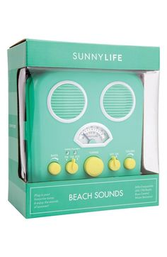 'Beach Sounds' Portable Water Resistant Speaker & Radio. Chilling at the beach or pool just isn't the same without those smooth summer tunes.