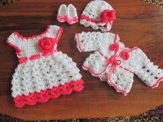 crochet baby dress, newborn outfit, Baby girl newborn, coming home outfit, crochet baby outfit, newb Baby Girl Crochet, Crochet Baby Clothes, Crochet For Kids, Free Crochet, Crochet Toddler, Baby Set, Baby Kostüm, Baby Girl Dress Patterns, Baby Patterns