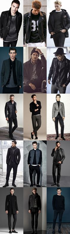 Men's Winter/Party Dressing: Keep It Casual Black Outfits Lookbook Inspiration