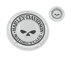 Easy-to-install and gleaming with chromed-out attitude. | Harley-Davidson Willie G. Skull Derby Cover