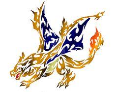 Image result for dragon pokemon tribal