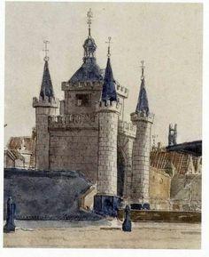 Alkmaar, prent van de Friese Poort uit 1803