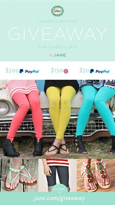 I entered the Jane.com #Giveaway for a chance to win PayPal CASH or Target Gift Card from Contagious Boutique!