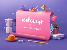 Invitation for Authors 02 designed by Crystal Yumumu. Connect with them on Dribbble; the global community for designers and creative professionals. 3d Design, Game Design, Invitation Design, Invitations, Graphic Design Fonts, 3d Artwork, Motion Design, Banner, Design Inspiration