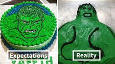 Expectations Vs Reality: 30 Of The Worst Cake Fails Ever Wtf Funny, Funny Fails, Hilarious, Funny Food, Bad Cakes, Cute Cakes, Crazy Cakes, Epic Cake Fails, Funny Images