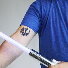 Millenium Tattoo - Semi-Permanent Tattoos by inkbox™ Side Tattoos, Body Art Tattoos, Tatoos, Rebel Alliance Tattoo, Fandom Tattoos, Empire Tattoo, Star Wars Light, Inkbox Tattoo, Semi Permanent Tattoo
