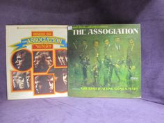 A Package of 2 Vintage Vinyl Rock and Roll Record Album LPs Released by The Association in 1966 & 1977
