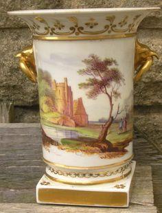 Rare Swansea or Nantgarw Eagle & ring handle vase c 1818   eBay
