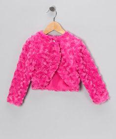 $9.99! Fuchsia Minky Swirl Bolero - Infant, Toddler & Girls #zulily #zulilyfinds