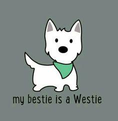 My besties is a Westie #tshirts #dogs #Westies
