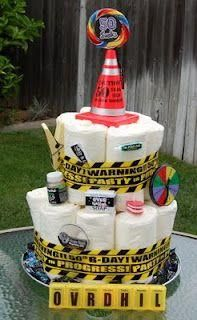 Caution Slow Senior Old Zone! Not just your classic over the hill party. Spice it up with some of these great ideas! Inflatable Walker | Over the Hill Cake Idea