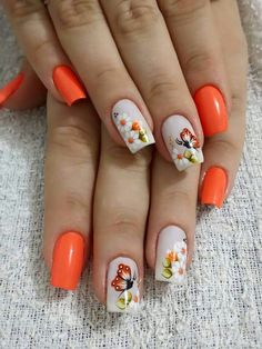 Get floral nail art and you're set to go. The patterns of floral nails art have gotten so intricate that it almost appears effortless. There are an assortment of things that could cause your nails to nice. Cute Spring Nails, Spring Nail Art, Nail Designs Spring, Nail Art Designs, Nails Design, Floral Nail Art, Trendy Nail Art, Nail Decorations, Flower Nails