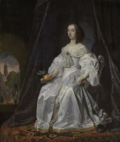 1652 Princess Henrietta Mary Stuart, Princess of Orange, by Bartholomeus van der Helst. The Princess Royal - Daughter of King Charles I and Queen Henrietta Maria. She married William II, Prince of Orange. They had one son. Mary Stuart, Queen Mary, Princess Mary, Nassau, British History, Art History, European History, Charles Ii Of England, Henrietta Maria