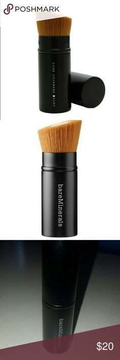 Bare Minerals Core Coverage Foundation Brush The brush of perfection... Airbrush finish... Builds full coverage... Use with the Bare Pro Performance Wear Powder Foundation... Has tightly packed fibers at its core. Retractable Brush, which is perfect for travel 💕 bareMinerals Makeup Brushes & Tools