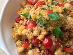 Spicy Thai Chili Quinoa and Chickpea Bowl