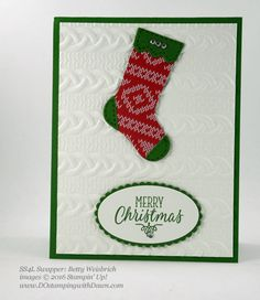 Hang Your Stocking Bundle swap card shared by Dawn Olchefske #dostamping (Betty Weisbrich)