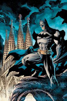 Batman in Barcelona: Dragon's Knight #1 cover by Jim Lee