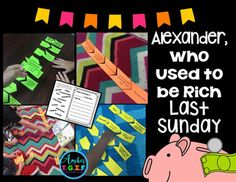 Need some hands-on centers for Alexander, Who Used to Be Rich Last Sunday? Practice vocabulary, money match, sequence of events and Sunday Activities, Sequence Of Events, Third Grade Reading, Sentence Starters, Reading Street, Activity Centers, Vocabulary Words, Teacher Newsletter, School Stuff