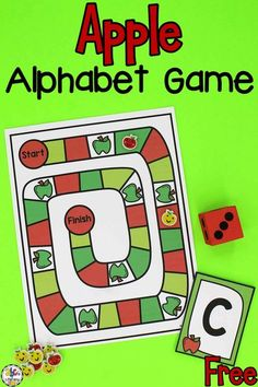Are you looking for a fun letter recognition activity for your kids? They are sure to love this Apple Alphabet Game! Play games is always a fun way for kids to learn! Your preschoolers will practice identifying capital and lowercase letters. Playing with others, gives kids the chance to develop important skills like communicating with one another, taking turns, and working together. Click on the picture to get this free printable alphabet game! #alphabetgame #letterrecognition #learningtheabcs