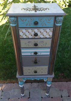 Painted jewelry armoire PARISIAN JEWEL with by accentbydesign