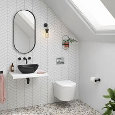 36 Fascinating Minimalist Bathroom Decoration Ideas - Bathrooms with sleek, minimalistic styling are one of the latest bathroom trends and there are a wide variety of contemporary bathroom products now av. Simple Bathroom, Modern Bathroom Design, Bathroom Interior Design, Home Interior, Bath Design, Interior Colors, Interior Ideas, Floating Bathroom Vanities, Bathroom Faucets
