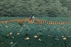 "Japanese Art Print ""Benten Pond at Shiba"" by Kawase Hasui. Shin Hanga and Art Reproductions http://www.amazon.com/dp/B00VCFLZ1K/ref=cm_sw_r_pi_dp_urQvwb00HEG2W"